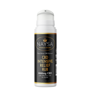 Naysa Intensive Relief Rub with Emu Oil 1000mg – Airless Pump
