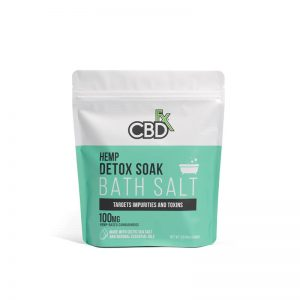 CBDfx CBD Bath Salt – Detox 100mg with Peppermint