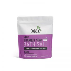 CBDfx CBD Bath Salt – Tranquil 100mg with Lavender