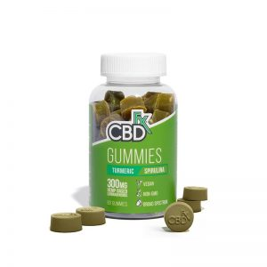 CBDfx CBD Gummies with Turmeric and Spirulina 300mg