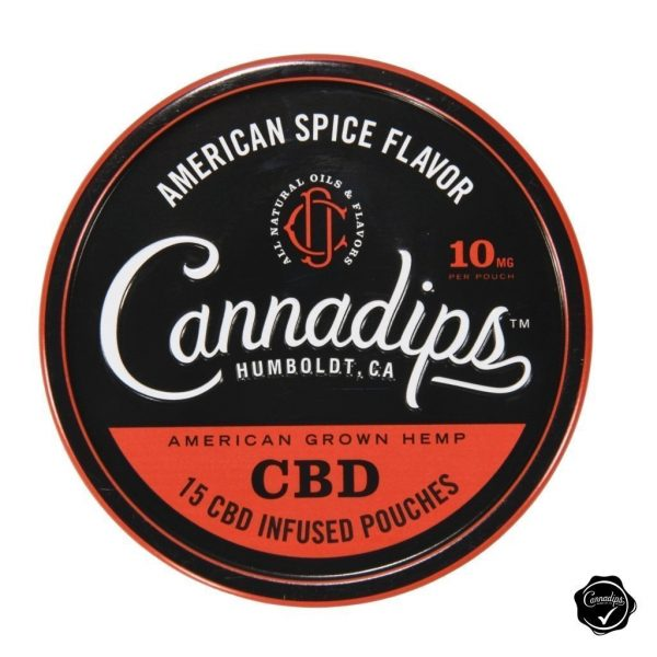 Dip - Cannadips American Spice Single Tin - Front