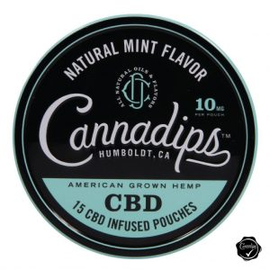 Cannadips Natural Mint Flavor Tin
