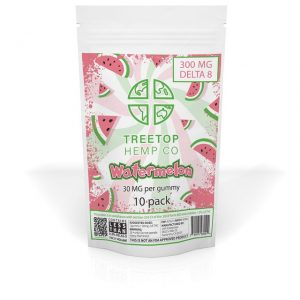 Treetop Hemp Co. Delta 8 Gummies – Watermelon